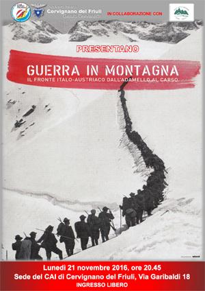 Guerra in montagna copertina libro