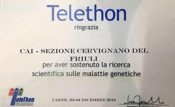 Ringraziamento Telethon