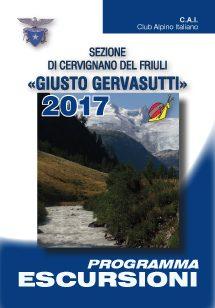Copertina Programma escursioni 2017