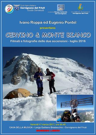 Manifesto Cervino e Monte Bianco